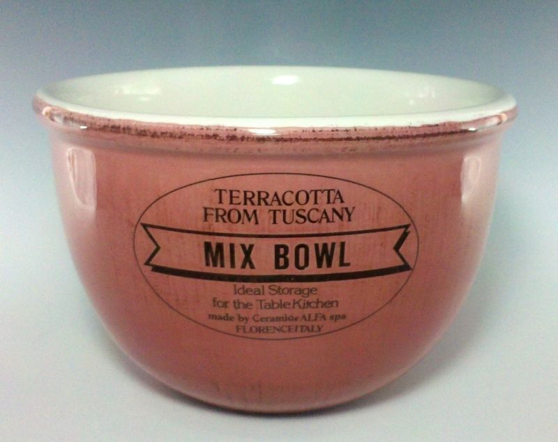 pink ceramiche alfa terracotta from tuscany mix bowl 8 time