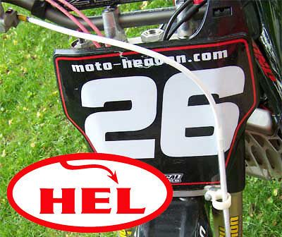 04 08 HEL Front + Rear Stainless Steel brake line hose CRF 250 R