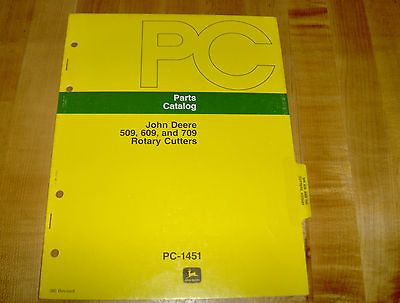John Deere 509 609 709 Rotary Cutter Mower Parts Catalog Manual Brush