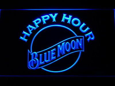 j806-b OPEN Bar Blue Moon Beer Club Neon Light Sign