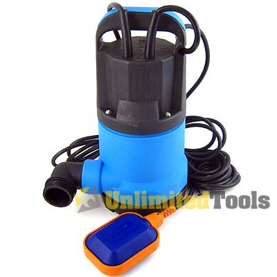 1HP Submersible Trash Water Pump for Pond Pool 13980LPH