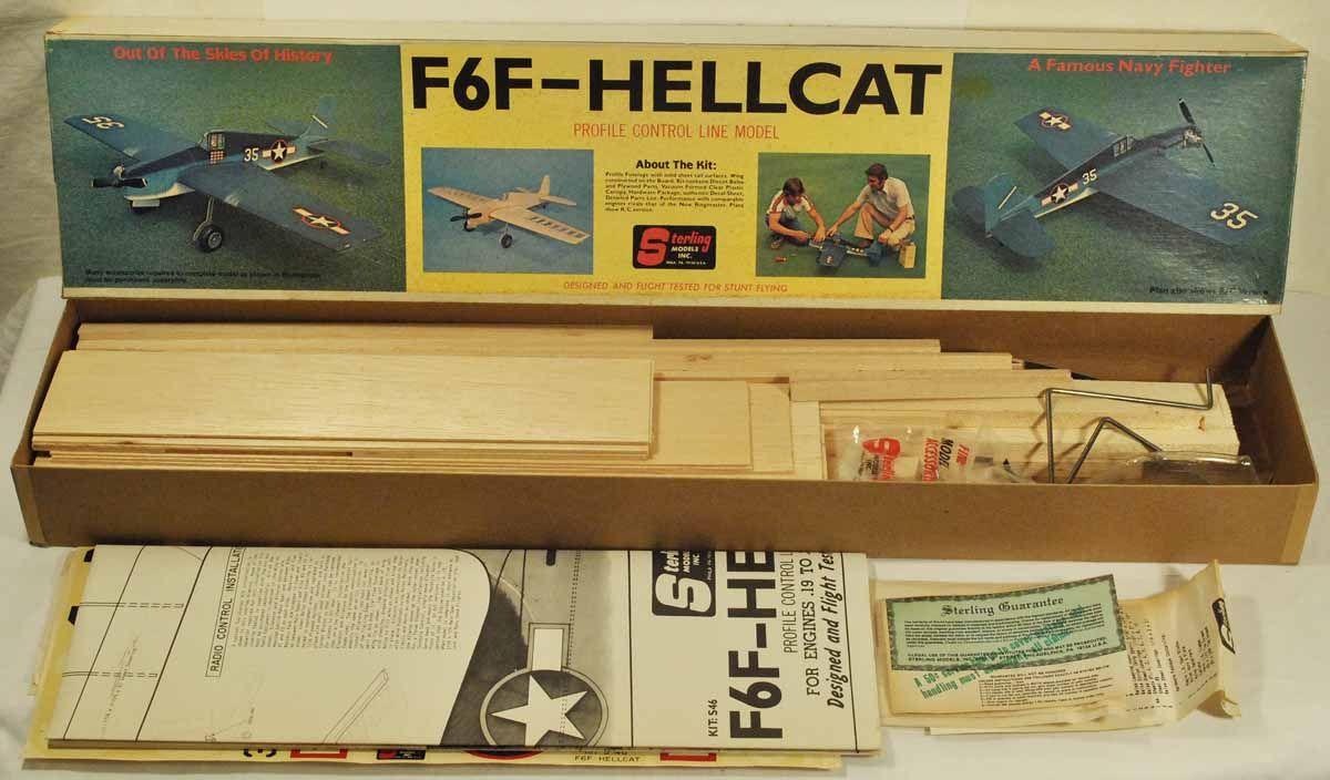 F6F Hellcat Profile Control Line Flying Model Airplane Kit