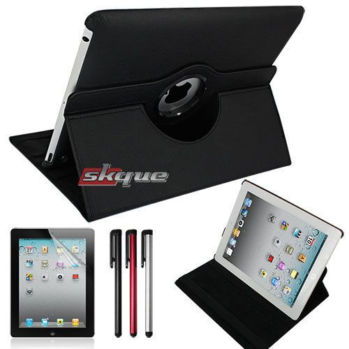 Bundle 360 Leather Case Cover Stand For Apple Ipad 3rd 4th Gen