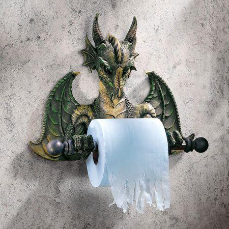Medieval Dragon Bath Tissue Holder Gothic Toilet Paper Holder