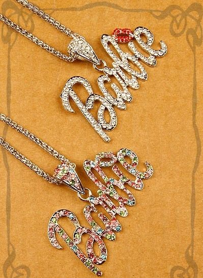 Iced Out Large Gold Barbie Nicki Minaj Pendant with Necklace Chain