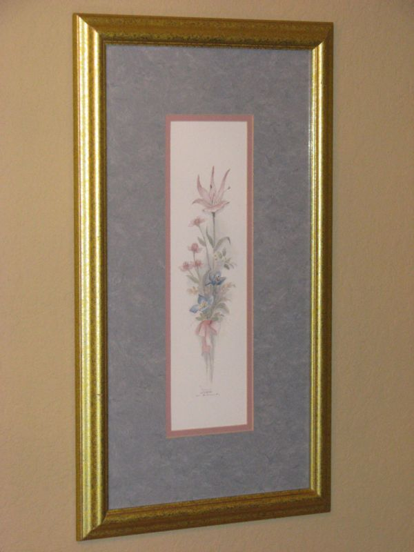 Mary Bertrand Limited Edition Pink Floral Framed Print