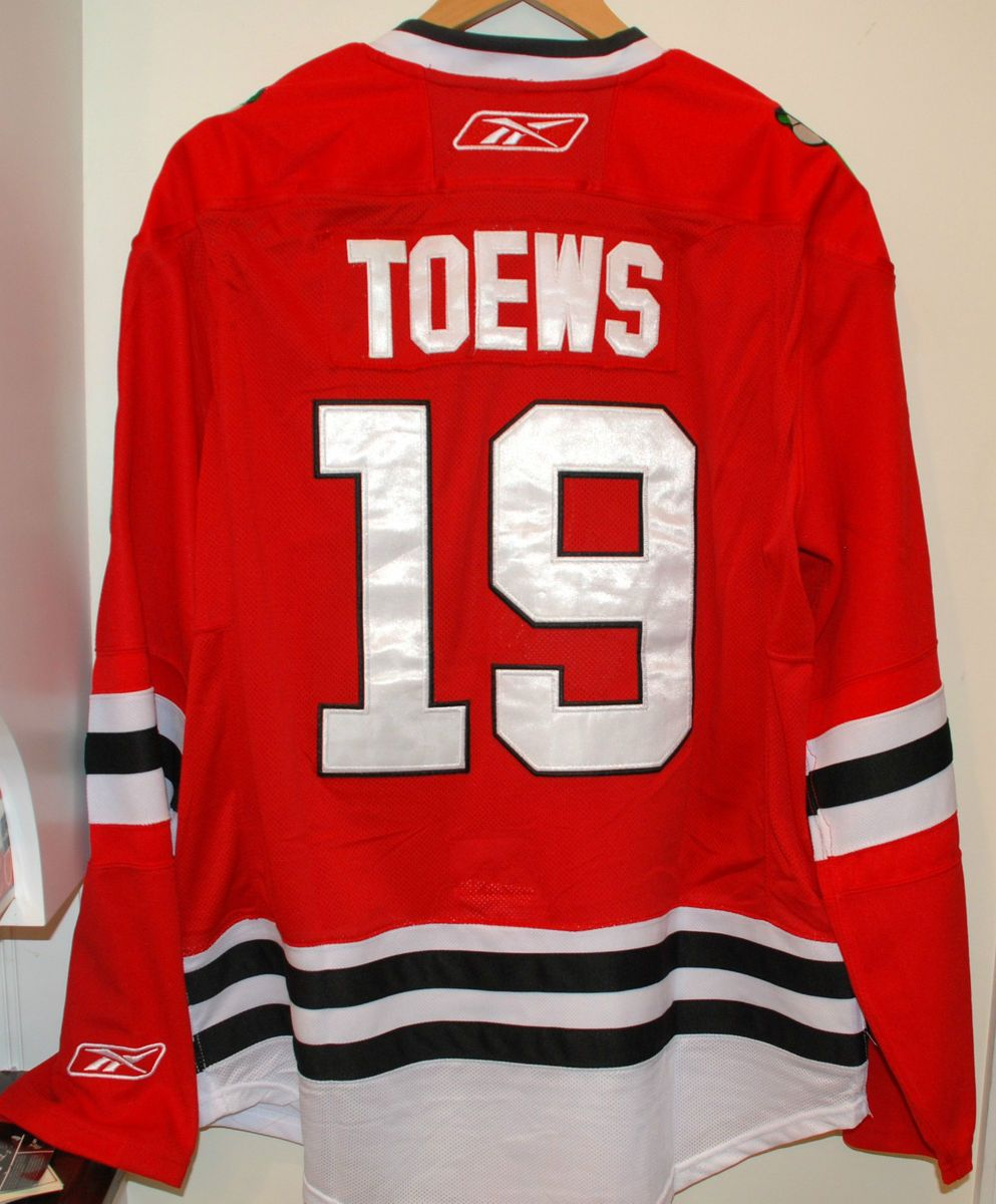 53fb5a496 NHL Chicago Blackhawks Reebok CCM Edge Jonathan Toews 19 Home Jersey