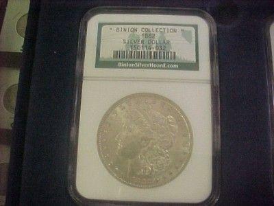 Binion Hoard Collection Morgan Peace Silver Dollar Set