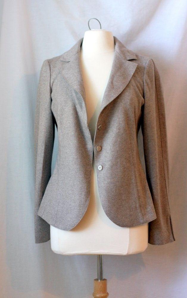 Brunello Cucinelli 42 Jacket Blazer Wool Cashmere Silk M Oatmeal