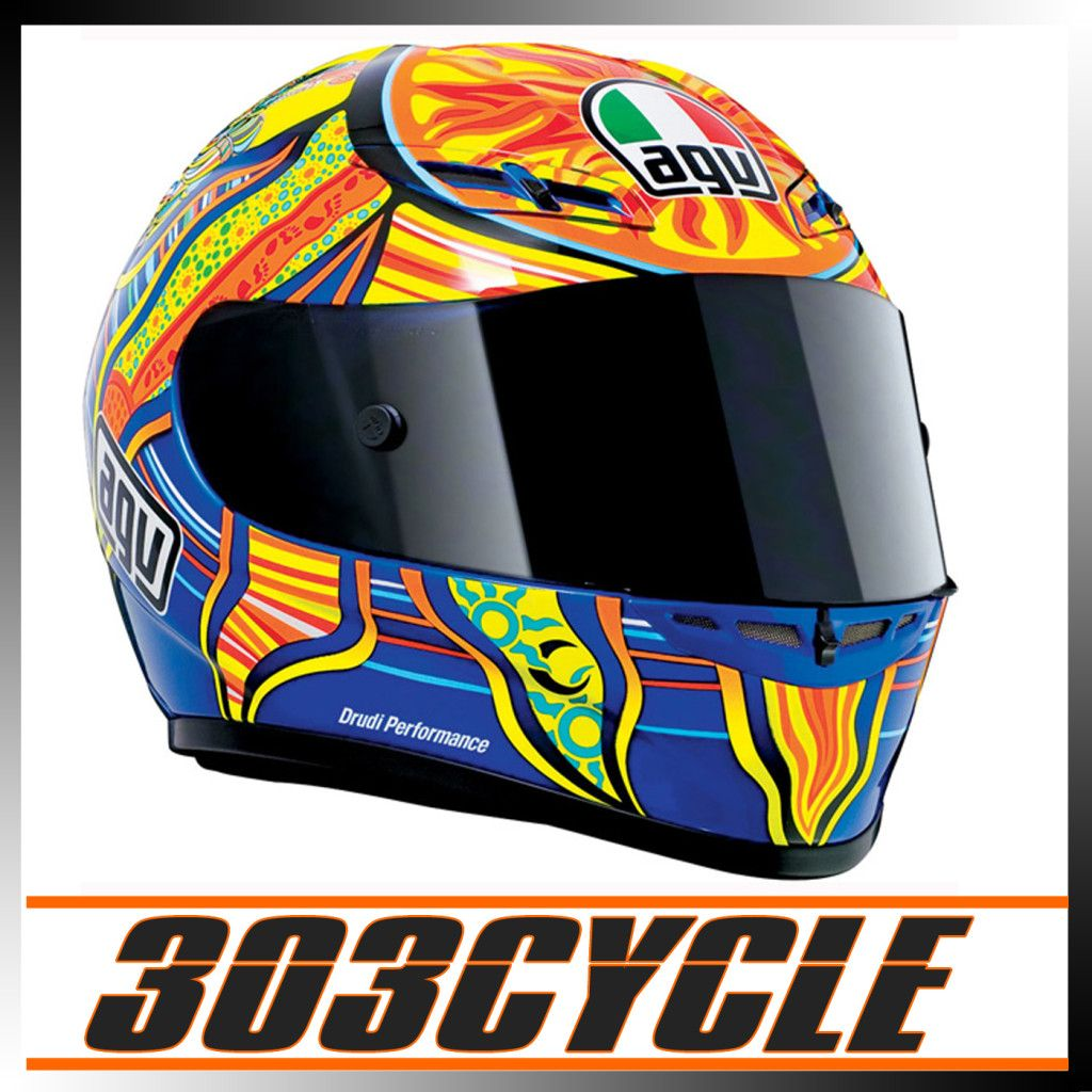 Agv Valentino Rossi 46 GP Tech 5 Continents Full Face Motorcycle