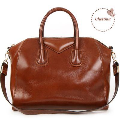 Made in Korea Womens Genuine Leather Aiden Satchel Shoulder Bag