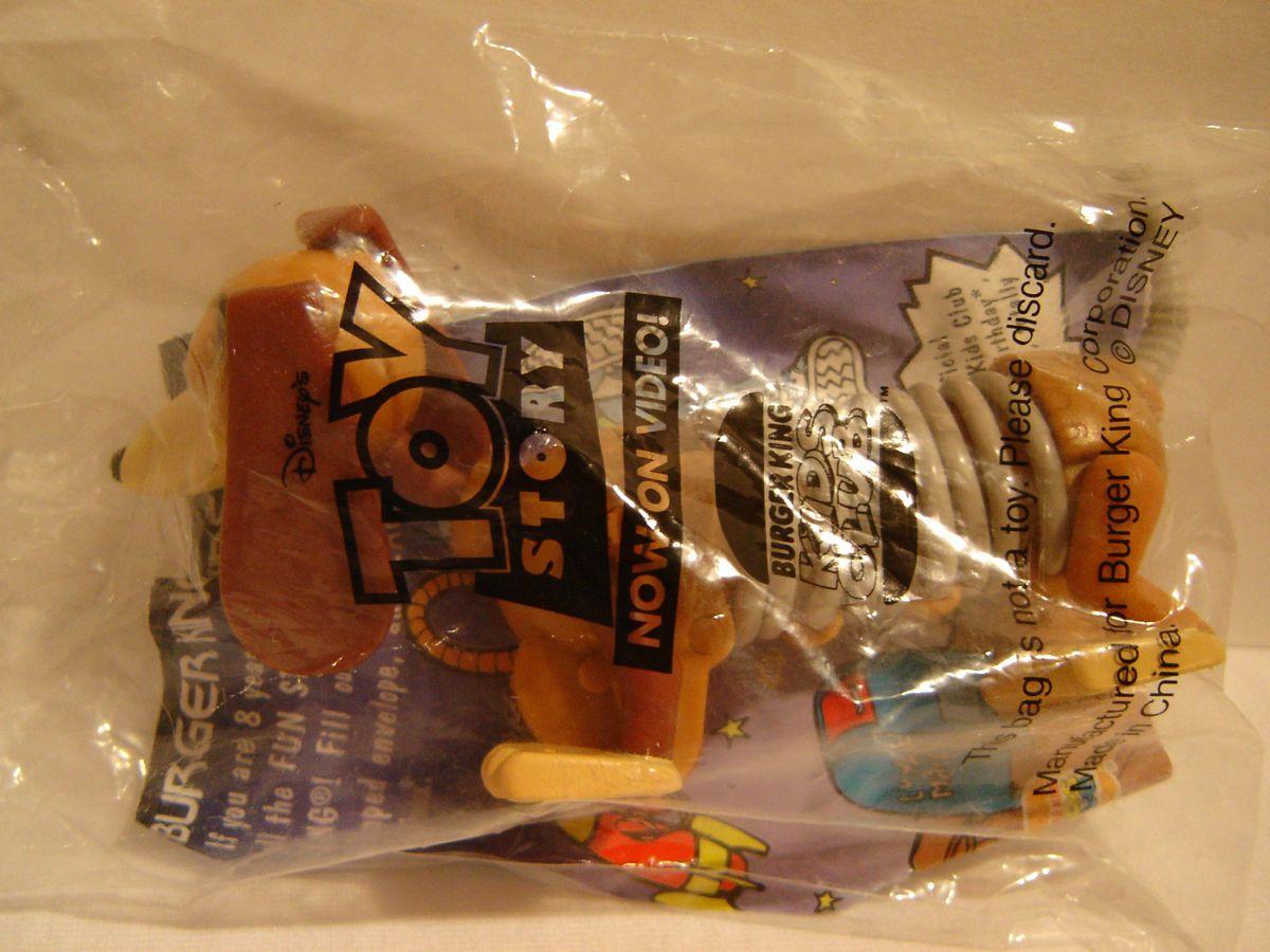 1996 Toy Story Burger King Kids Meal Toy Disney SLINKY DOG Wind Up