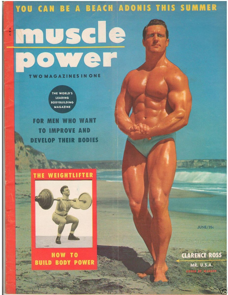 Muscle Power Bodybuilding Fitness Magazine Clarence Ross 6 55