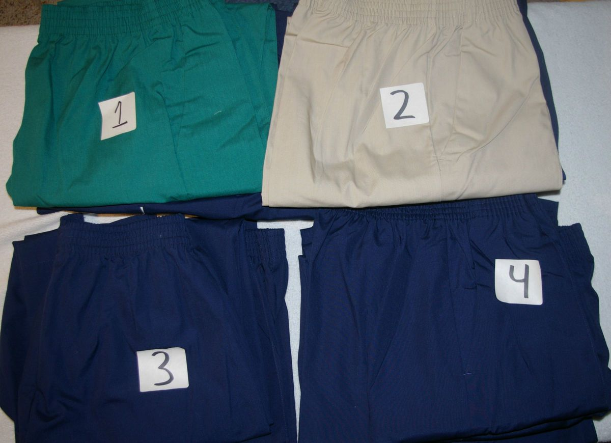 NW Lot of 2 or 3 Crest Medical Nursery Uniform Scrubs Pants Style 112