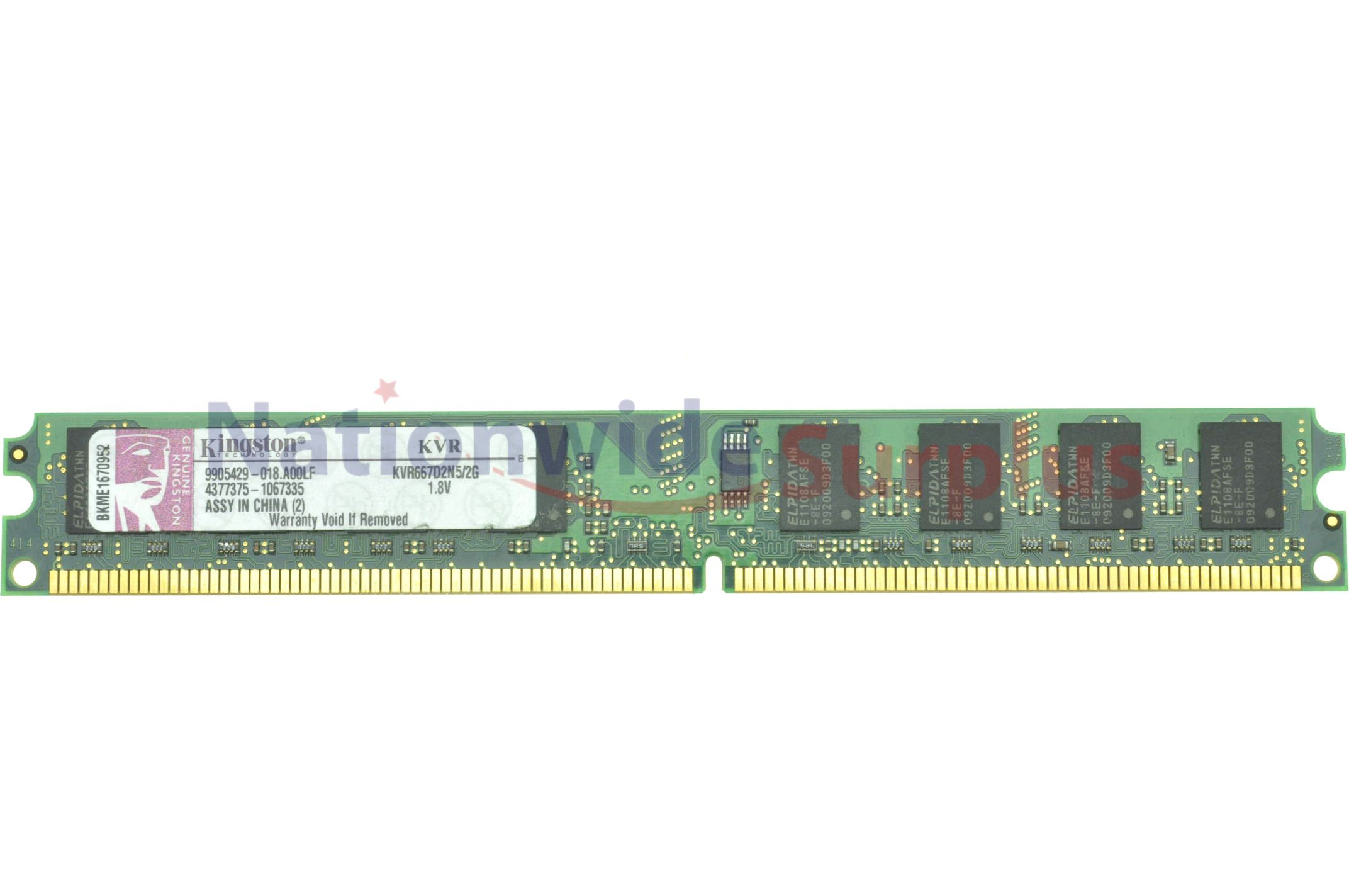 Kingston 2gb Desktop Ram Memory Ddr2 Pc2 5300 667mhz Kvr667d2n5 2g