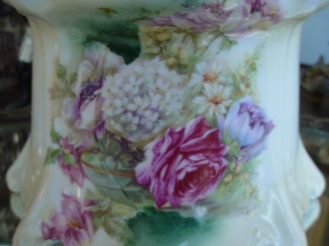 OLD RS PRUSSIA POINT & CLOVER FLORAL ROSES ART NOUVEAU BISCUIT/CRACKER