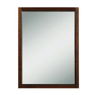 DecoLav 9709 MMG Mahogany Jordan 24 Rectangular Wall Mirror with