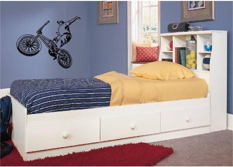 BMX Bike Wall Sticker Decal Extreme Sports Boys Bedroom