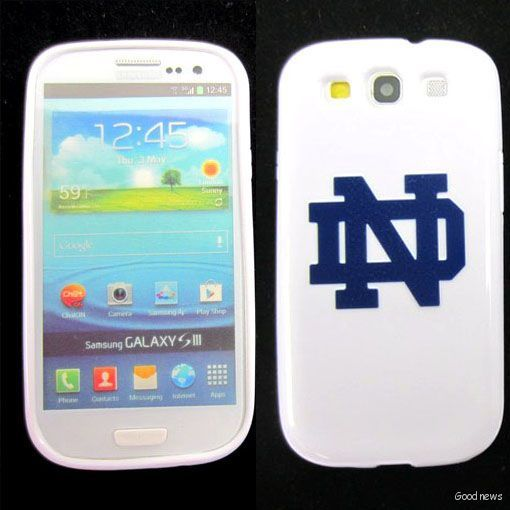 Notre Dame Fighting Irish Rubber Skin Case Cover Samsung Galaxy s III
