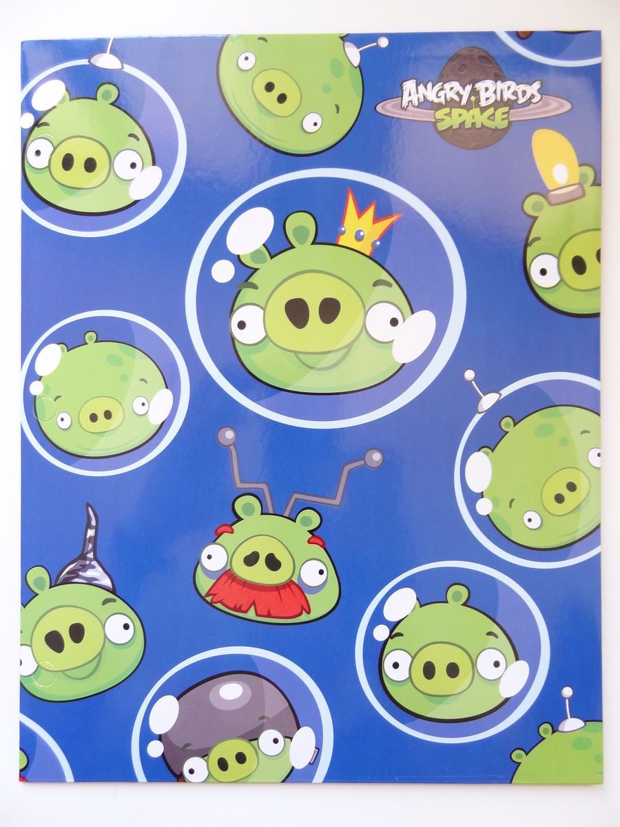 New Angry Birds Space File Folder Back to School Supplies