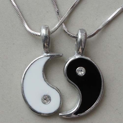 Friendship Best Friend Silver Pewter Pendant with Snake Necklace