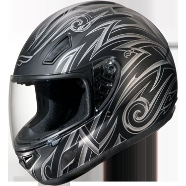 Fulmer E1 Full Face Motorcycle Helmet Flat Black Road Warrior New
