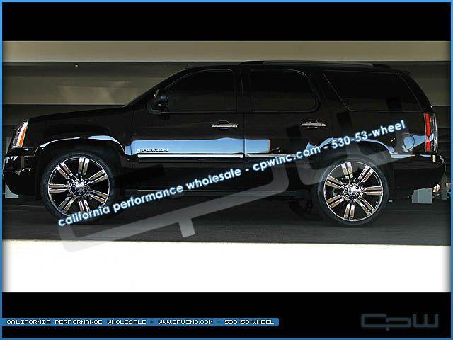 24 Rims GMC Chrome Wheels Chevrolet Cadillac Fit Silverado Tahoe