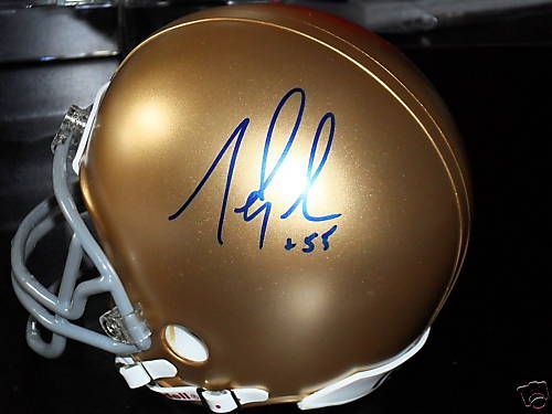 Mike Golic Signed Notre Dame Fighting Irish Mini Helmet
