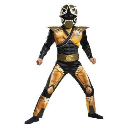 Power Rangers Samurai MEGA Gold Ranger Costume M 7 8 Boys Child Kids