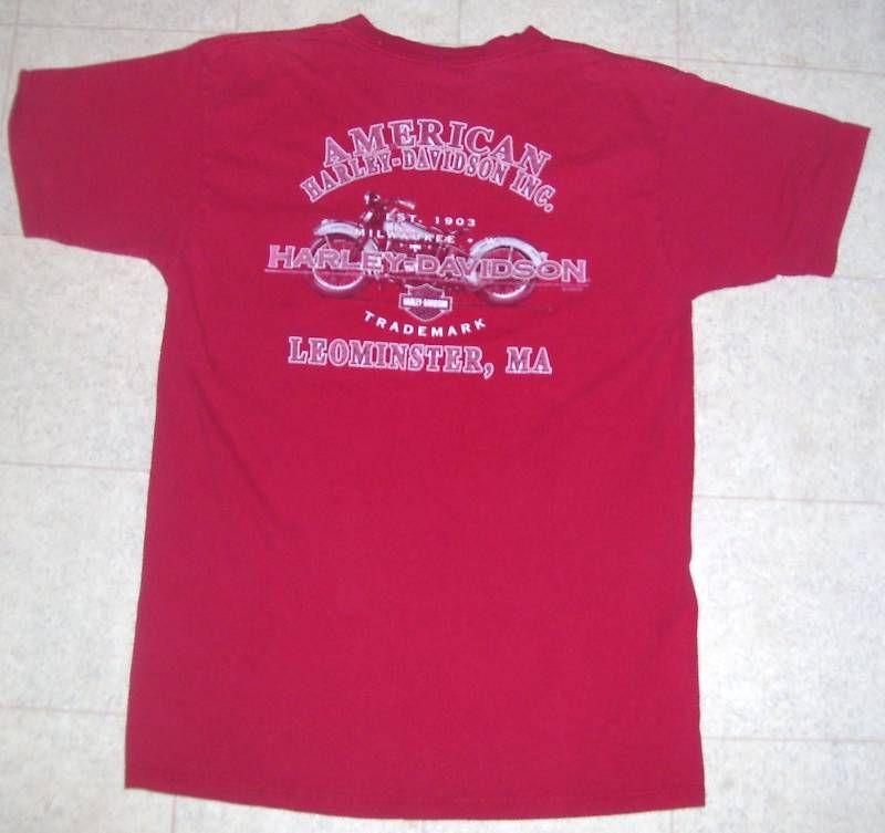 Genuine Harley Davidson Motorcycles T Shirt Medium to Large Vintage 22