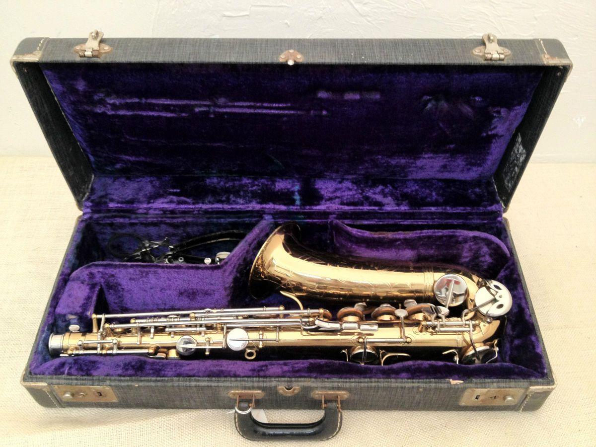 Noblet Paris Series Maville Vintage Used 1950s Alto Saxophone w/ Case