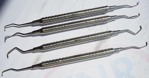 Gracey Curettes Hollow Medical Dental Instrument Set 4 Pcs YNR