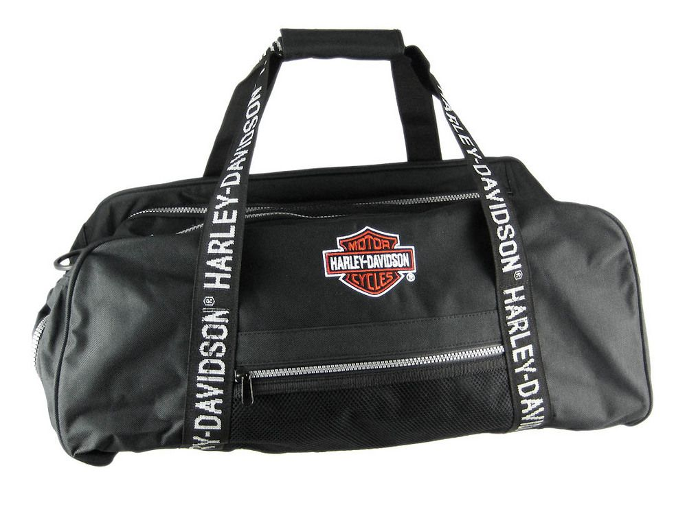 Harley Davidson Black Gym Bag Duffle Travel Pack Duffel