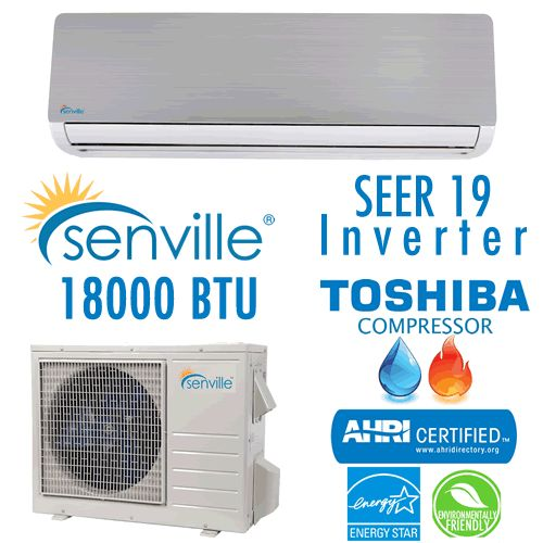 Senville 18000 BTU Heat Pump and Split Ductless Air Conditioner 19