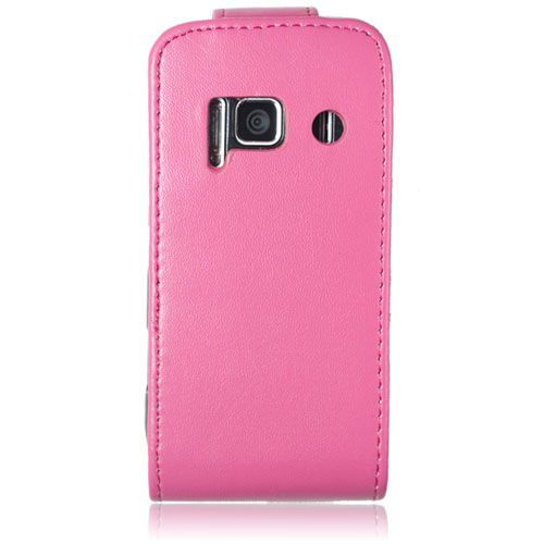 Pink PU Leather Flip Case in Car Phone Holder Car Charger for Nokia N8