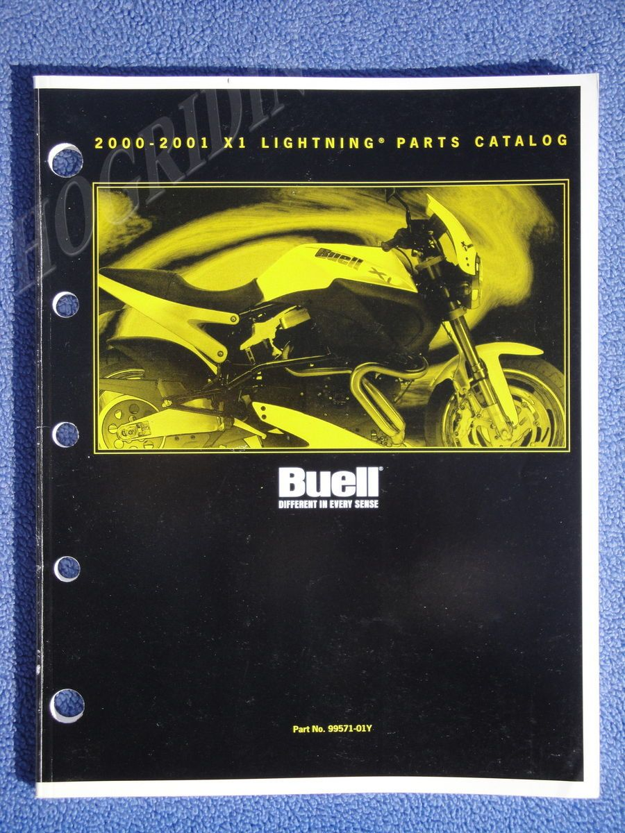 BUELL HARLEY DAVIDSON PARTS MANUAL CATALOG MOTORCYCLE LIGHTNING X1
