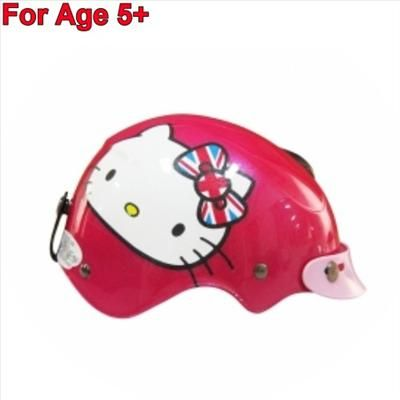 Hello Kitty Kids Motor Bike Helmet Harley Union Jack England Hotpink