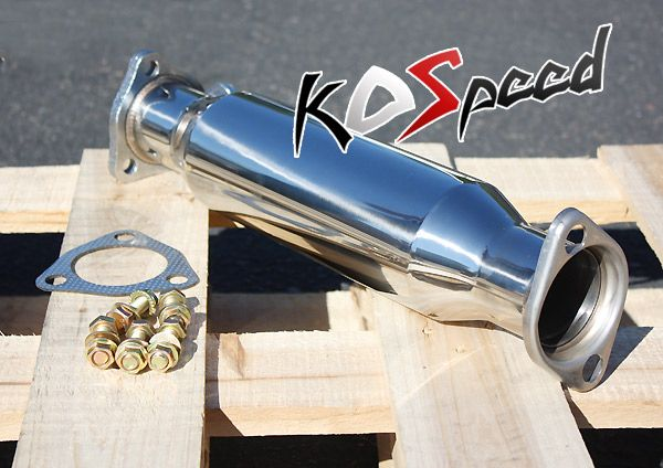 T304 Stainless Steel 2 25 Exhaust Pipe 88 00 Honda Civic Del Sol