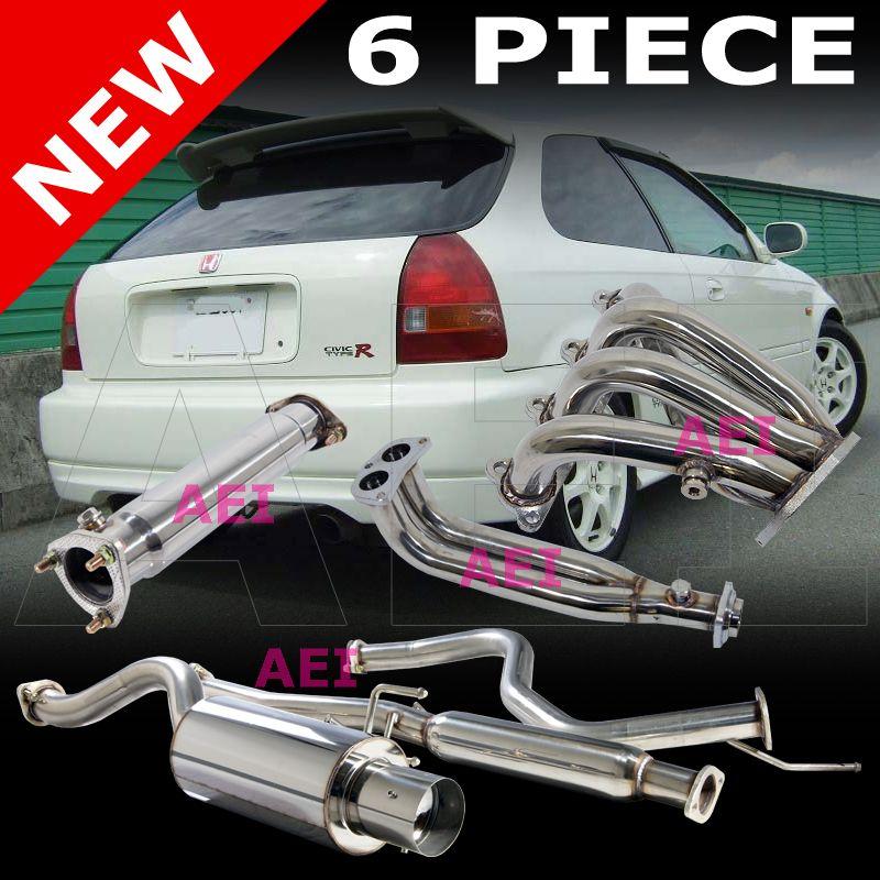 Honda Civic Hatchback 96 00 Stainless Steel Catback Header Pipe