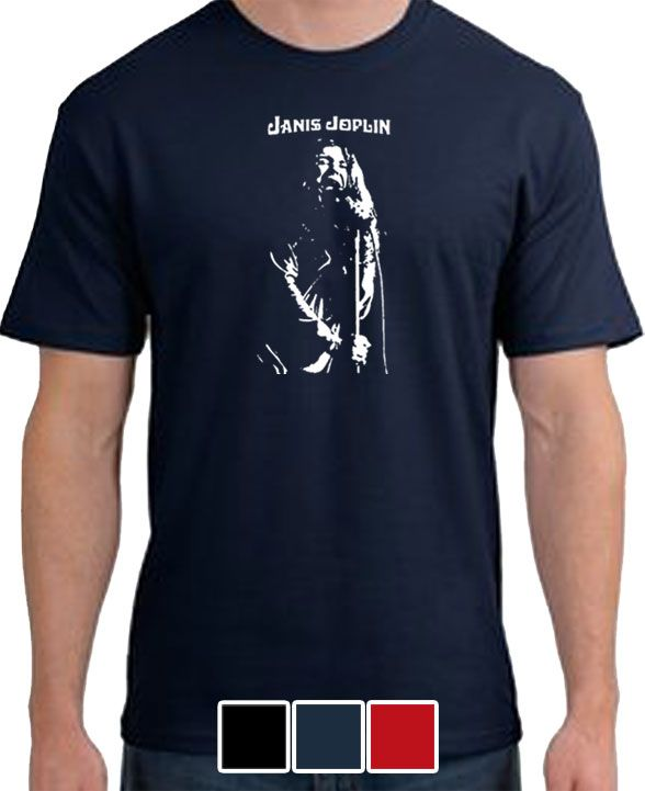 Janis Joplin Mens T Shirt Rock Punk Retro Music s 3XL