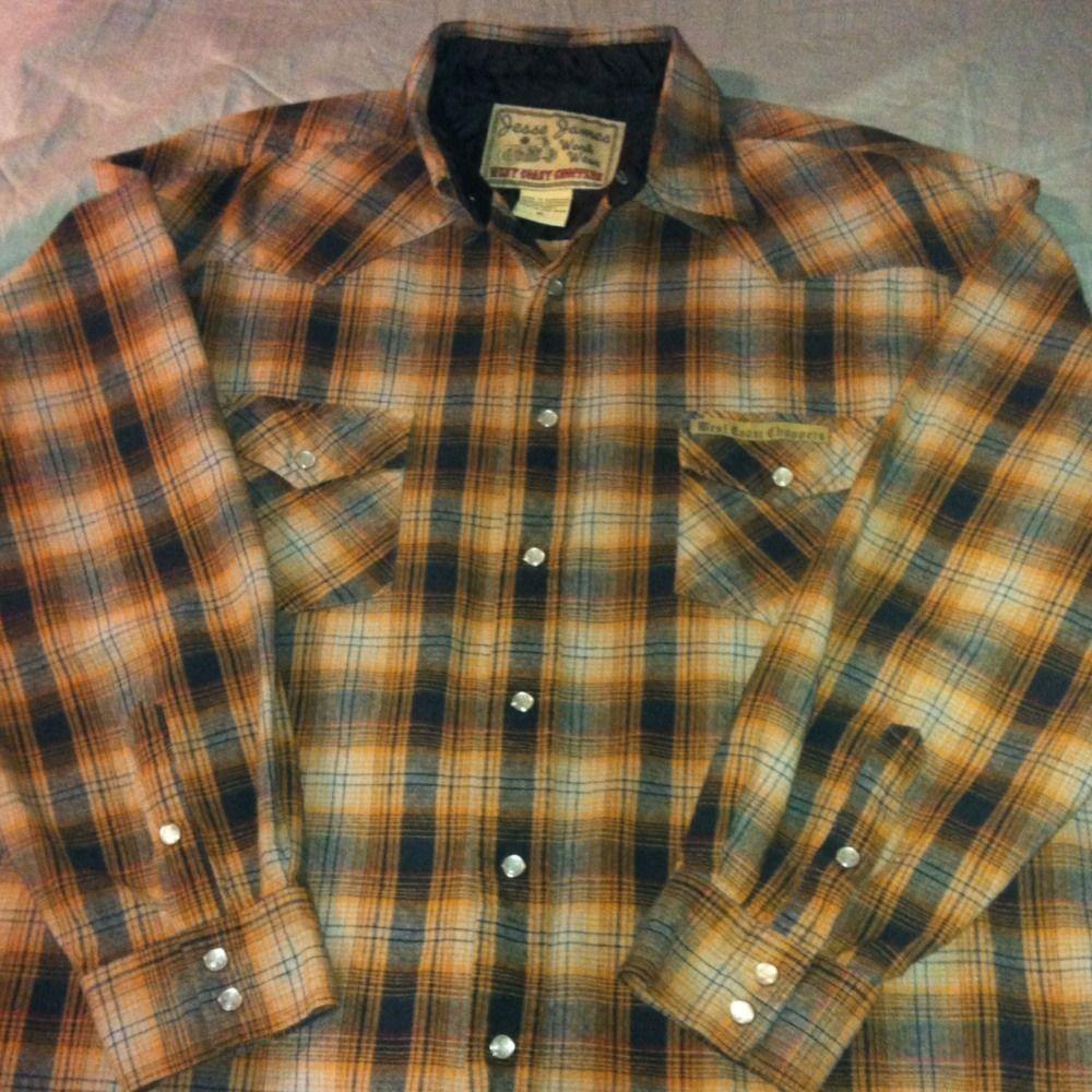 Jesse James West Coast Choppers Button Down Shirt XL