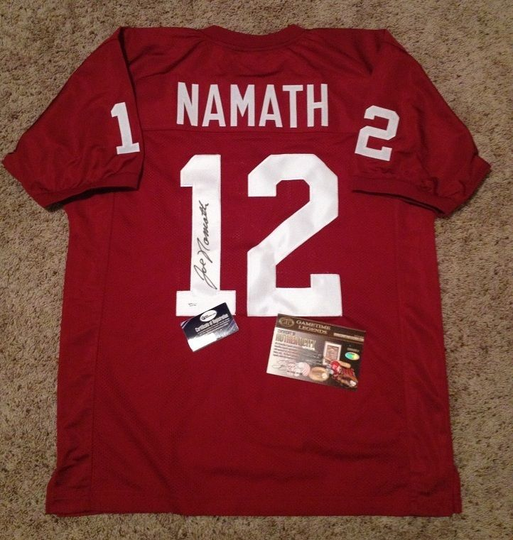 Joe Namath Alabama Crimson Roll Tide signed 12 JERSEY Online Authentic