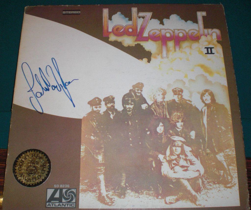 John Paul Jones Signed LED Zepplin II Original Album