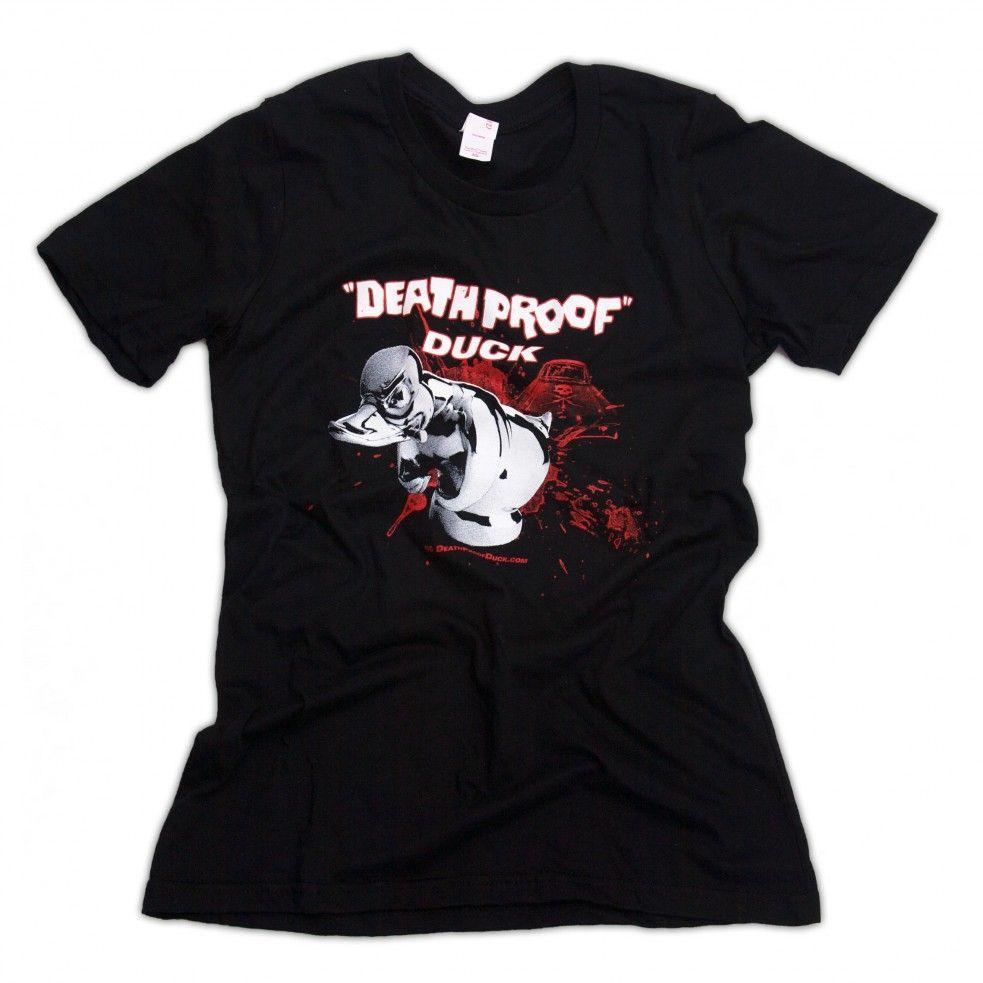 Women's Death Proof Convoy Duck Hood Ornament T Shirt Rat Rod Hot Rod Mascot