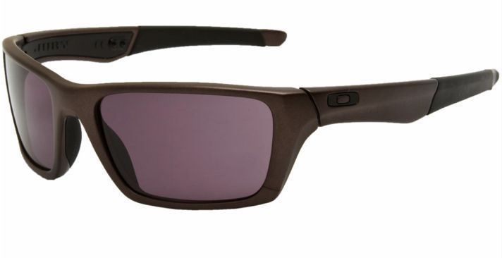 New Oakley Sunglasses Jury Distressed Grey w Warm Grey Lens 004045 01
