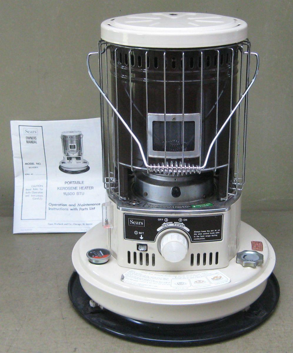 Portable Kerosene Heater 11 500 BTU with Owners Manual