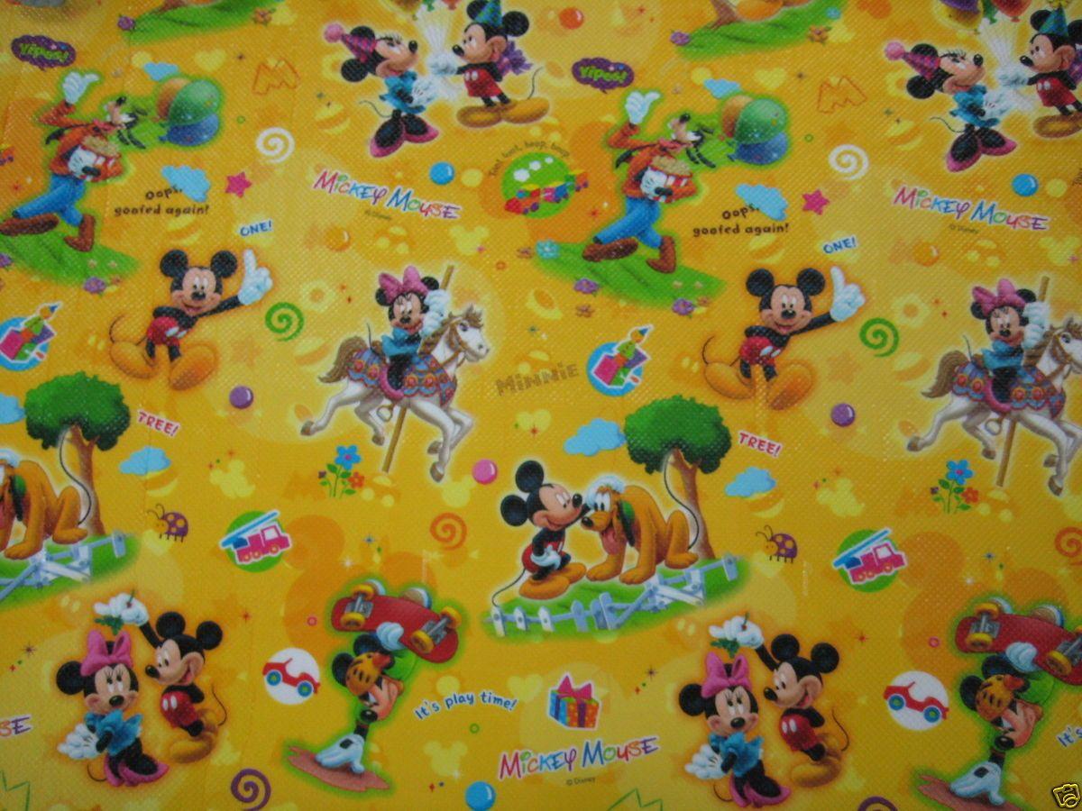 Parklon Kids Baby Kids Play Mat Rug Disney Mickey Minnie Pluto Deisgn