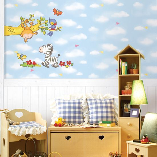 SWST 06 Jungle Kids Room Wall Decal Deco Mural Sticker