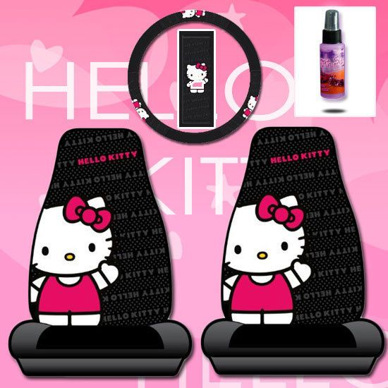 New Hello Kitty Car Seat Covers Accessories Set Core