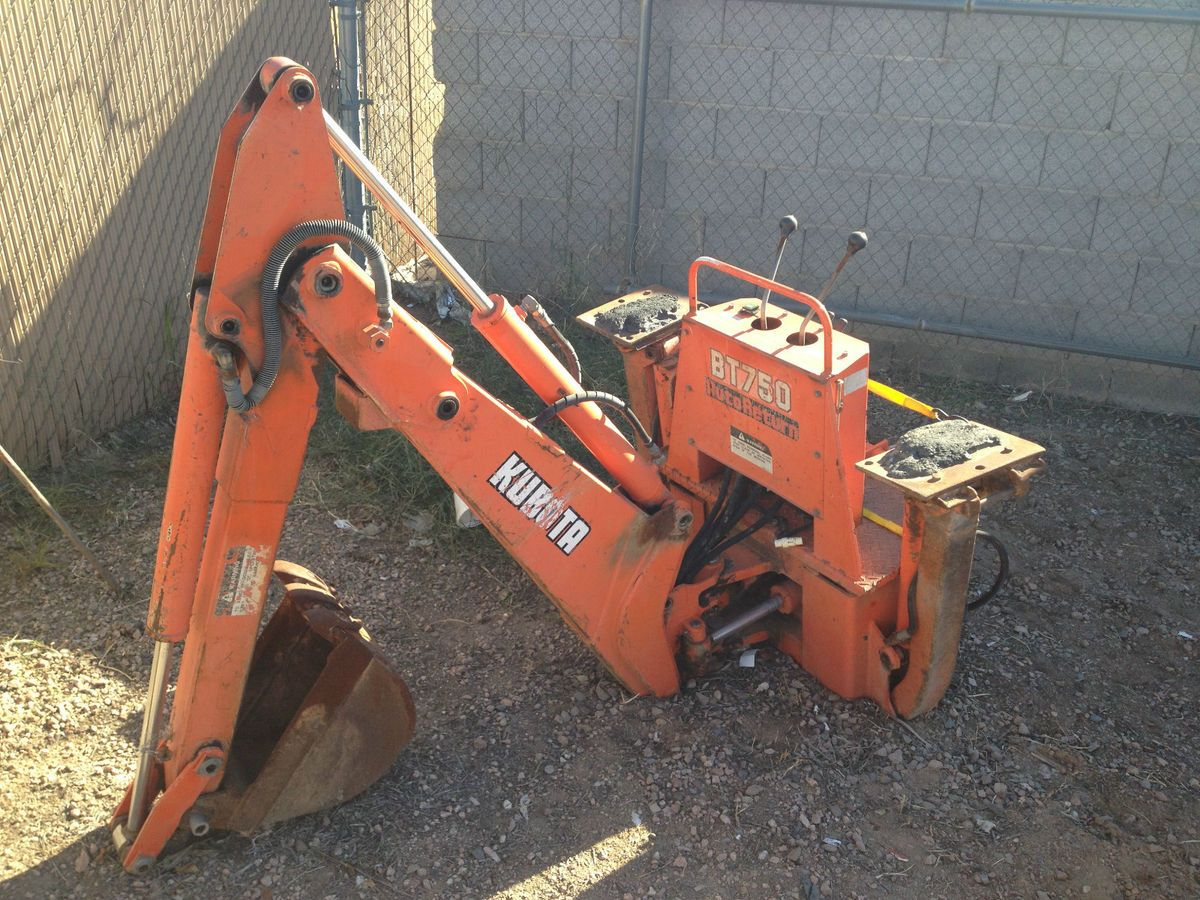 Kubota BT750 Backhoe Attachment for Kubota B20 Tractor Loader
